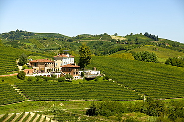 View of Villa Tiboldi in Canale Cuneo, Piedmont, Italy