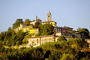 View of Monforte d'Alba, Piedmont, Italy