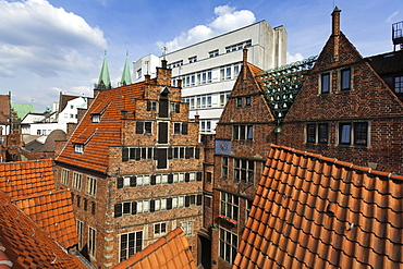 Roof of Roselius house, Bremen, Germany