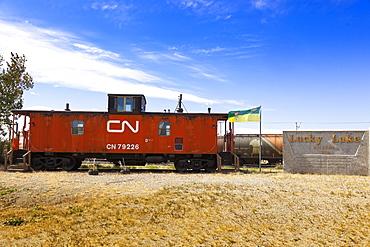 Locomotive in Lucky Lake, Saskatchewan, Canada