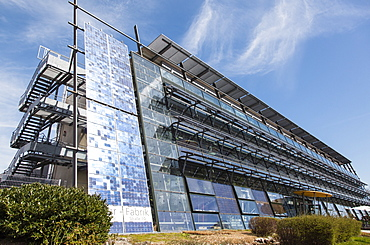 Low angle view of solar factory in Freiburg, Germany