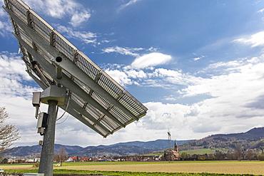 Close-up of solar module from Soitec Landscape near St. Georgen, Freiburg, Germany