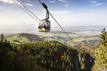 View of cable car and mountains in Schauinsland, Freiburg, Germany