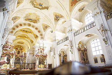 View of abbey church of St Peter, Freiburg, Germany