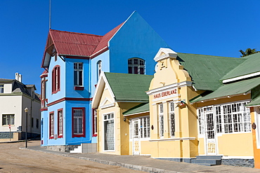 Colourful colonial-style houses in Lüderitz, Namibia