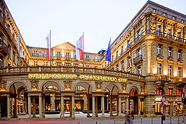 Facade of The Grand hotel Steigenbergerin Frankfurt, Germany
