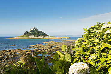 St. Michael's Mount, tidal island with a chapel in Cornwall (England)