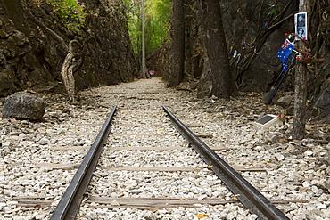Hellfire Pass Museum, on the infamous Thai-Burmese Death Railway built by prisoners of war under the Japanese, Hellfire Pass, Kanchanaburi, Thailand, Southeast Asia, Asia
