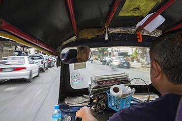 Tuktuk on Nimmanhemin Road in Chiang Mai, Thailand, Southeast Asia, Asia