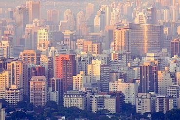 A view of the Sao Paulo skyline from Jardins, Sao Paulo, Brazil, South America
