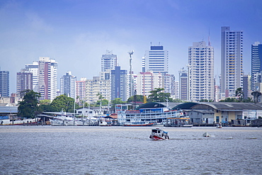 Belem city and the Guama River in the Brazilian Amazon, Belem, Para, Brazil, South America