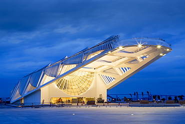 The Museu do Amanha (Museum of Tomorrow) by Santiago Calatrava opened December 2015, Rio de Janeiro, Brazil, South America