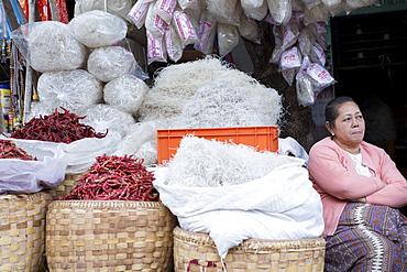 Monywa market, Monywa, Sagaing, Myanmar, Southeast Asia