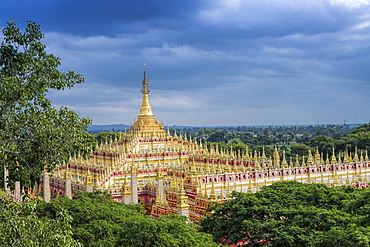 Thanboddhay (Thambuddhei) Paya Buddhist temple, Monywa, Sagaing, Myanmar (Burma), Southeast Asia