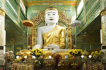 Buddha inside a temple on Sagaing hill, Sagaing, Myanmar (Burma), Southeast Asia