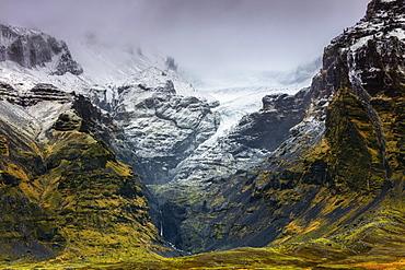 Mountains below the Vatnajokull glacier near Hofn, Iceland, Polar Regions