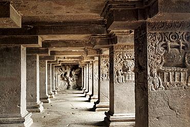 Ajanta Caves, UNESCO World Heritage Site, Maharashtra, India, Asia