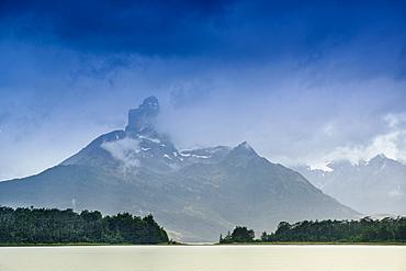 The Magellan Straits and Darwin Mountain range, Alberto de Agostini National Park, Tierra del Fuego, Chilean Patagonia, Chile, South America