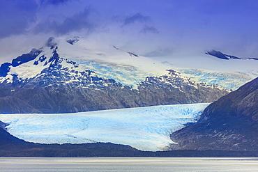 Glacier in the Darwin Mountain range (Cordillera Darwin), Alberto de Agostini National Park, Patagonia, Chile, South America