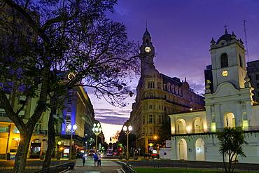 Cabildo Museum and Calle Bolivar off the Plaza de Mayo, Buenos Aires, Argentina, South America