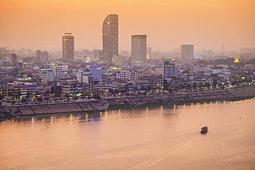Skyline, Phnom Penh, Cambodia, Indochina, Southeast Asia, Asia