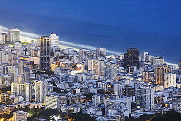 View of Leblon beach (Ipanema), Rio de Janeiro, Brazil, South America