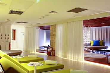 Spa in the newly refurbished Hotel Nacional by architect Oscar Niemeyer, Rio de Janeiro, Brazil, South America