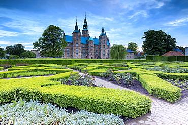 Rosenborg Castle seen from the gardens of Kongens Have, Copenhagen, Denmark, Europe