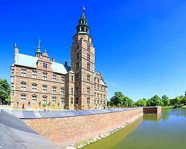 Panoramic of Rosenborg Castle built in the Dutch Renaissance style, Copenhagen, Denmark, Europe