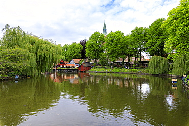 Dragon Boat Lake, Tivoli Gardens, Copenhagen, Denmark, Europe