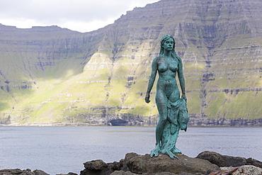 The Seal Woman of Mikladalur (Kopakonan), Kalsoy Island, Faroe Islands, Denmark, Europe