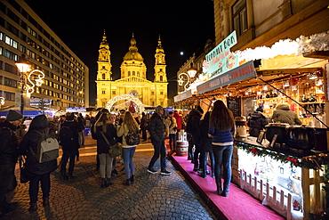 Christmas markets, Budapest, Hungary, Europe