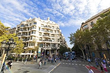 Casa Mila (La Pedrera), UNESCO World Heritage Site, Barcelona, Catalonia, Spain, Europe