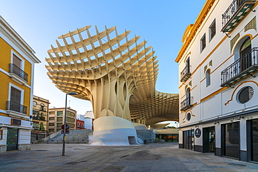 Metropol Parasol, a wooden structure popularly known as Setas de Sevilla, Plaza de la Encarnacion, Seville, Andalusia, Spain, Europe