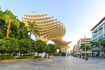 Plaza Mayor, the lower level of the Metropol Parasol, Plaza de la Encarnacion, Seville, Andalusia, Spain, Europe