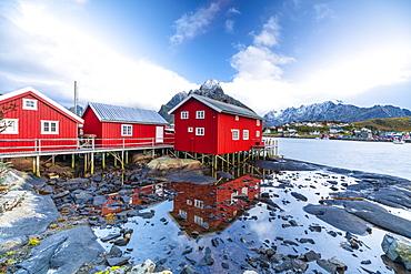 Traditional Rorbu, Reine, Nordland, Lofoten Islands, Norway, Europe