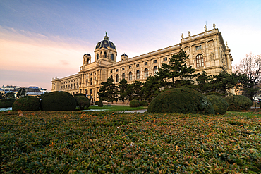 Gardens of the Natural History Museum (Naturhistorisches Museum), Maria-Theresien-Platz, Vienna, Austria, Europe