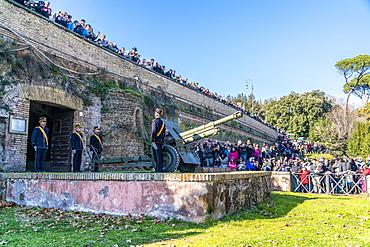 Cannon at Gianicolo Hill, Rome, Lazio, Italy, Europe