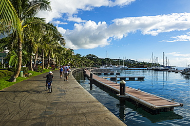 Waterfront of Tahiti, Society Islands, French Polynesia, Pacific