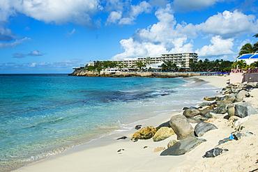 Beach at Maho Bay, Sint Maarten, West Indies, Caribbean, Central America