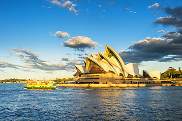 Sydney Opera House at sunset, UNESCO World Heritage Site, Sydney, New South Wales, Australia, Pacific