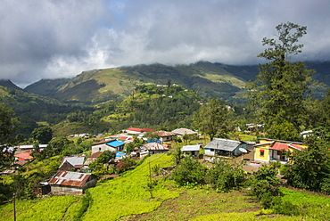 Overlook over the mountain town of Maubisse, East Timor, Southeast Asia, Asia