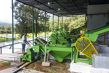 Coffee grinding machines in a coffee factory in Maubisse, East Timor, Southeast Asia, Asia