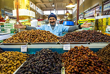 Local vendor selling all sorts of dates, Fish Market, Kuwait City, Kuwait, Middle East