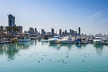 Yacht harbour on Marina Mall, Kuwait City, Kuwait, Middle East