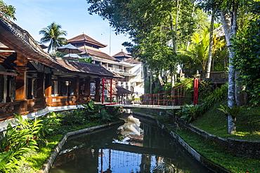 Little bridge in the Kamandalu Ubud resort, Ubud, Bali, Indonesia, Southeast Asia, Asia