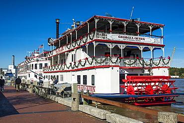 Riverboat on the Savannah River, Savannah, Georgia, United States of America, North America