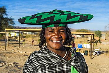 Herero woman, Ovapu, Kaokoland, Namibia, Africa