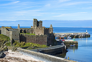 Peel castle, Peel, Isle of Man, United Kingdom, Europe