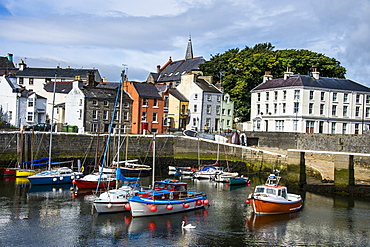 Harbour of Castletown, Isle of Man, crown dependency of the United Kingdom, Europe